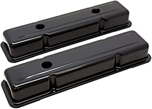 1958-86 Chevy Small Block 283-305-327-350-400 OEM Style Short Valve Covers - Black