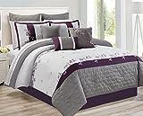 Safdie 60877.7K.09 Adina King Plum Comforter Set (7 Piece)