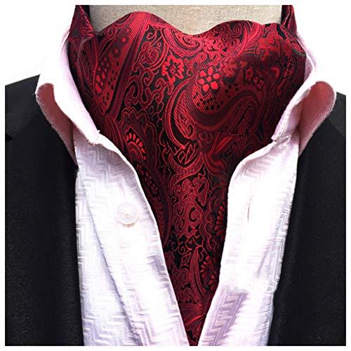 Men's Cravat Self Tie Paisley Jacquard Woven Luxury Ascot Color 1