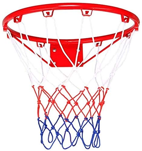 SONGYU-Basketball-Ständer Indoor Outdoor Tragbarer Basketball Rim Basketball-Netz Set Basketballkorb Mit Kugel Und Pumpe, Korb -Durchmesser 30cm Basketballkorb