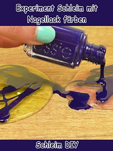 Clip: Experiment Schleim mit Nagellack färben - Schleim DIY