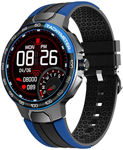 Reloj inteligente de los hombres de los deportes del reloj IP68 impermeable, recordatorio del mensaje del pronóstico del tiempo pulsera de los deportes de Bluetooth, rastreador de la aptitud