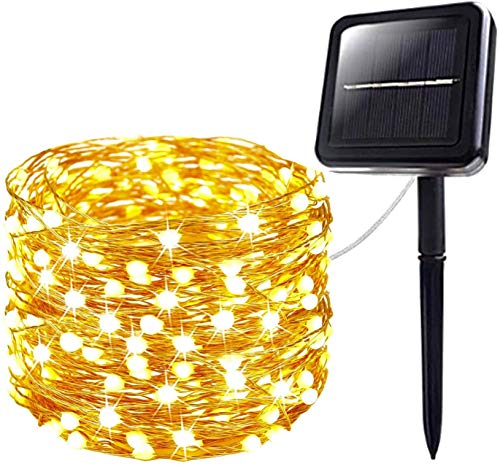AELIOR Upgraded Super Durable Solar String Lights Outdoor, Super Bright and Bigger 200 LED-72FT,IP65 Waterproof Copper Wire 8 Modes Starbright Solar Lights for Christmas Wedding Garden Yard Tree Party