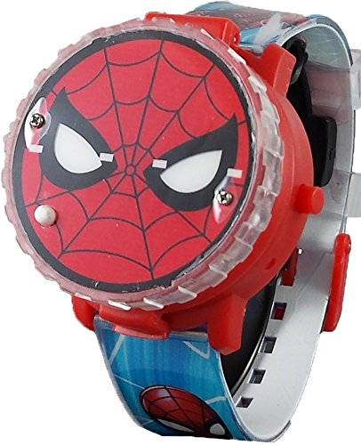 Spiderman Kid's Light Up Spinner Digital Watch with Pop Up Feature