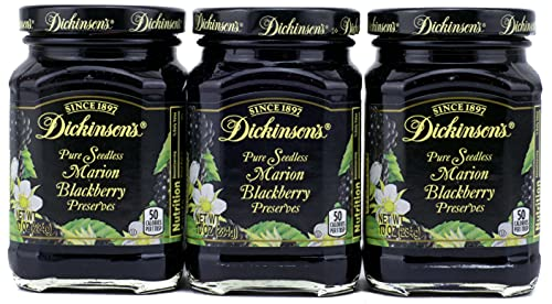 Dickinson's Preserves 10 Oz (Pack of 3) (Pure Seedless Marion Blackberry)
