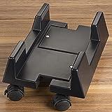 SO-TECH® Soporte PC soporte rodillo negro del equipo ajustable detectable