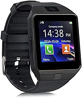 Smartwatch Bluetooth Touchscreen Sweatproof Phone with Camera TF/SIM Card Slot for Android and iPhone Smartphones