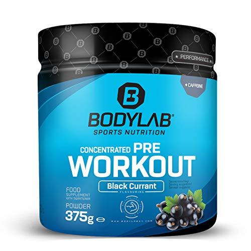 Bodylab24 Concentrated Pre Workout 375g | Pre-Workout Booster mit Aminosäuren und Koffein | Schwarze Johannisbeere