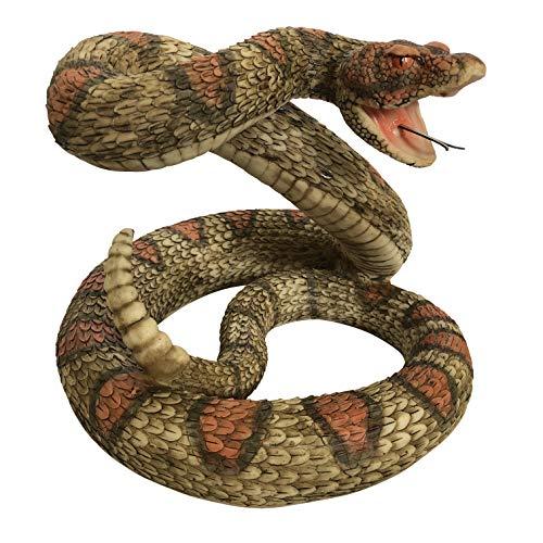 OF Gartenfiguren für außen Klapperschlange XL - Deko Figur Schlange groß Tiere - Wetterfest