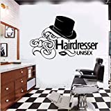 QIEGAO Exquisito tocador barbería Pared Arte Pegatinas de Pared Sala de Estar decoración del Dormitorio Pegatinas de Pared decoración de la habitación pared-30x47cm