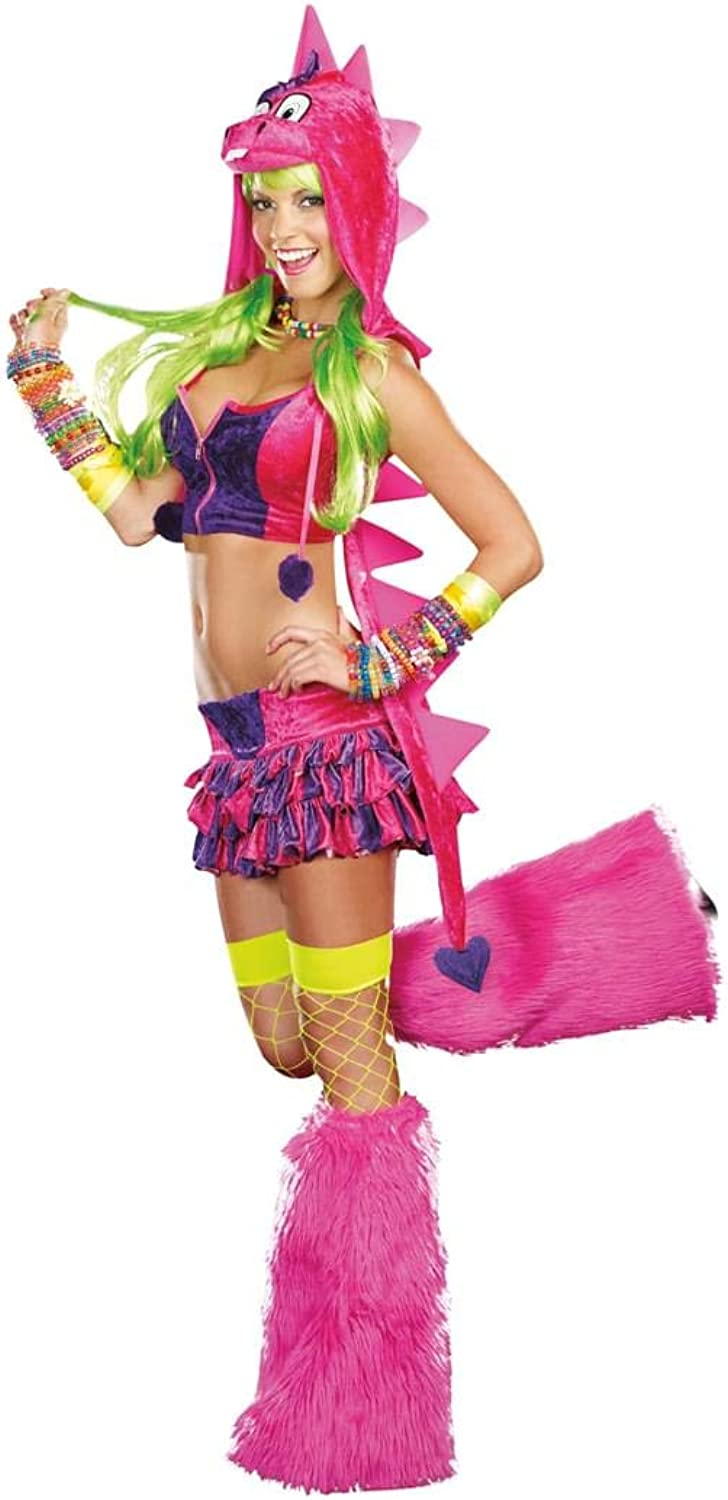 Dreamgirl Sexy DinoDLicious Neon Rave Costume Adult XLarge