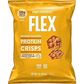 Popcorners Flex Protein Crisps Cheddar & Sour Cream 1 oz 20 Count