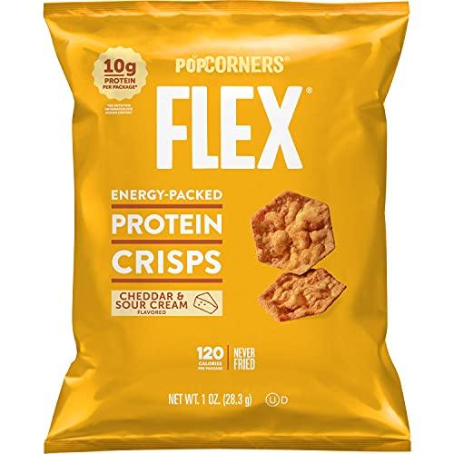 Popcorners Flex Protein Crisps, Cheddar & Sour Cream, 20 Count Now $12.99