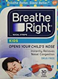 Breathe Right Nasal Strips Kids 30-count Boxes with Colorful Strips by Breathe Right