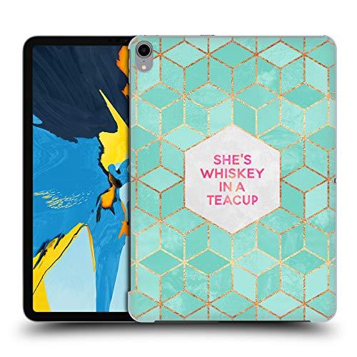 Officiële Elisabeth Fredriksson Ze is whisky in een theekopje Typografie Hard Back Case Compatibel voor Apple iPad Pro 11 (2018)