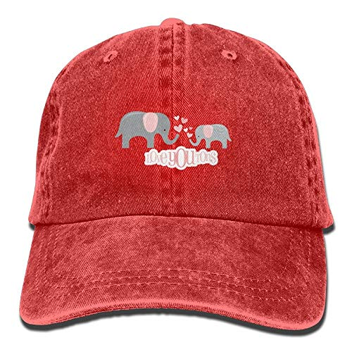 Hoswee Baseballmütze Hüte Kappe Elephant Love Plain Adjustable Cowboy Cap Denim Hat for Women and Men