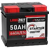 LANGZEIT Autobatterie 12V 50Ah 440A/EN +30% mehr Leistung ersetzt 41AH 44AH 45AH 46AH 47AH