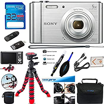 Sony Cyber-Shot DSC-W800 Digital Camera  Silver  + Deal-Expo Accessories Bundle