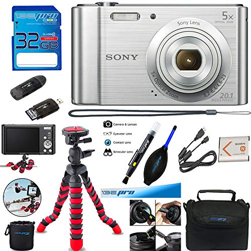 Sony Cyber-Shot DSC-W800 Digital Camera (Silver) + Deal-Expo Accessories Bundle