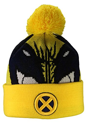 New Era Bonnet d'hiver/Bonnet à pompon X-MEN WOVEN BIGGIE Bonnet Hero comics de