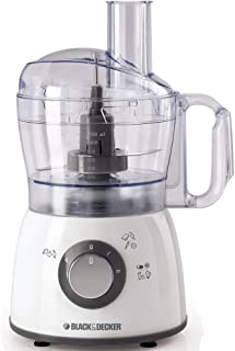 Black+Decker 400W 18 Functions Food Processor with 4 Accessories Stainless Steel Blades and 2 Speed Pulse Function, 1.2 Li...