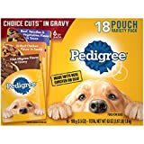 PEDIGREE CHOICE CUTS Variety Pack: (6) Filet Mignon; (6) Grilled Chicken; (6) Beef Noodles and Vegetables Choice Cuts Offers Complete Nutrition in a Balanced Dog Food