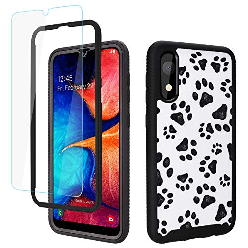 GOLINK Full Body Shockproof Protective Case with HD Screen Protector for Galaxy A10e-Paws