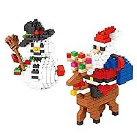 ミニビルディングブロックおもちゃセット、メリークリスマスのテーマサンタブロック、楽しい小さなおもちゃパーティーは子供のためのギフトを支持します