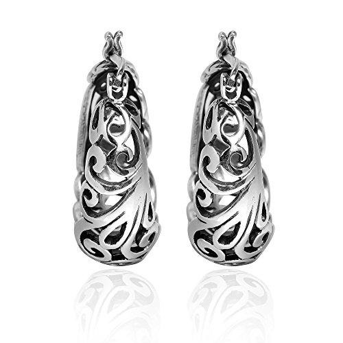 Graceful Swirl Sterling Earrings - 1