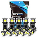 2006 Ford Freestyle License Plate Light Bulbs - Marsauto 194 LED Light Bulbs, 6000k Super Bright T10 168 2825 5SMD Replacement bulbs for License Plate Lights Lamp, Courtesy Dome Map Door Lights, Pack of 10