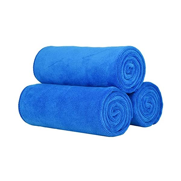 VIcolour Microfiber Gym Towels Sports Towel Fitness Workout Sweat Towels 3 Pack 16 Inch X 35 Inch