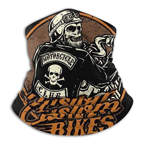 Harley Davidson Biker Art hombres y mujeres calentador de cuello de microfibra polaina elástica para la cara, media máscara, bufanda, bandana, diadema, pasamontañas