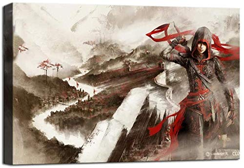 Assassin's Creed Chronicles China Leinwandkunst Poster und Wandkunst Familie Schlafzimmer Dekor