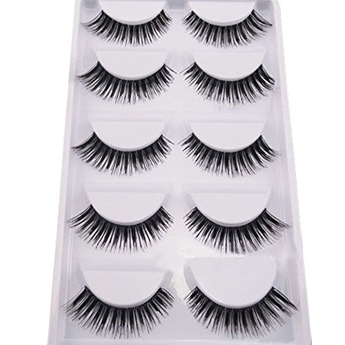 5 Pairs Makeup Handmade Natural Thick Eye Lash Extension False Eyelashes