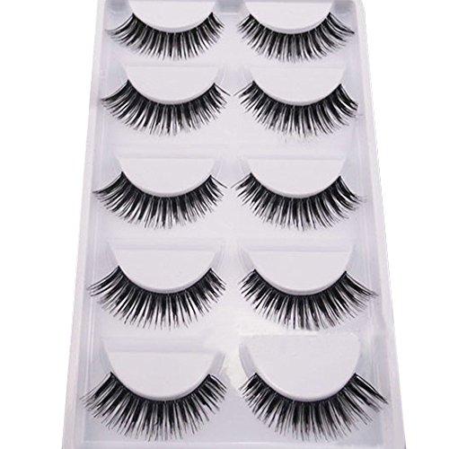 5 Pairs Makeup Handmade Natural Thick Eye Lash Extension False Eyelashes