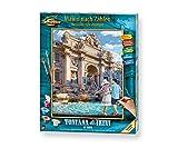 Schipper 609130819 Malen nach Zahlen, Fontana die Trevi in Rom - Bilder malen für Erwachsene,...