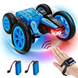 Advanced RC Stunt Car, 2.4GHZ Remote Control Cars, with Gesture Sensor Watch and 2 Rechargeable Batteries, 4WD Deformable 360° Rotation Racing Car Toy Gift for Kids Teens