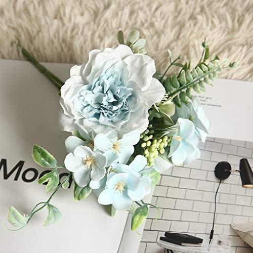 Hunpta@ Künstliche Blumen Pfingstrose Hortensie Strauß Hochzeitsdekor Blumenarrangement für Haus Büro Balkon Garten Hochzeit Party Valentinstag Dekoration