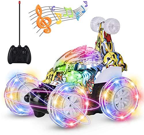 UTTORA Ferngesteuertes Auto Militärfahrzeuge,Kinderspielzeug für Jungen Mädchen,Dual Modi 360° Drehbarer...