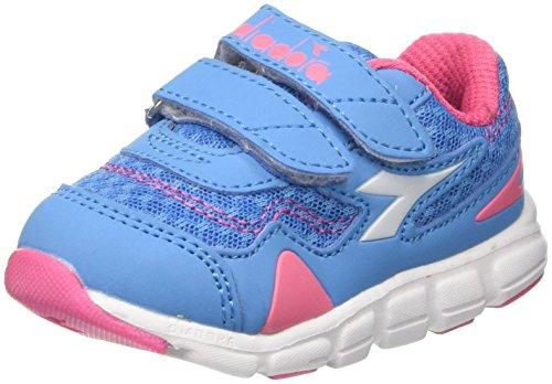 Diadora Flamingo i, Scarpe da Running Bambino, Blu (Azzurro Bello Rosa Limonata), 22 EU