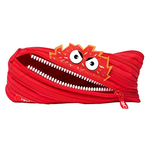 ZIPIT Talking Monstar Pencil Case, Red