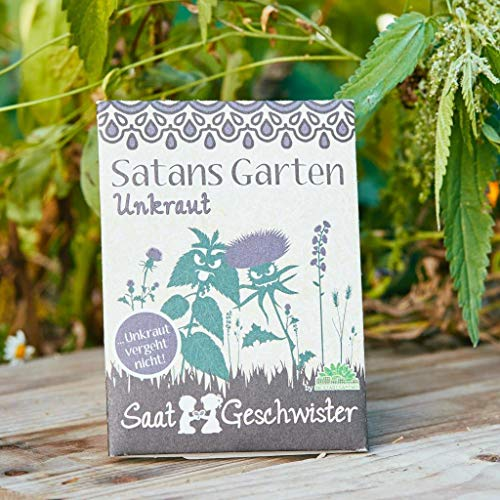 Die Stadtgärtner Unkraut-Saatgut | Satansgarten | Fiese Samen-Mischung mit Distel, Löwenzahn, Brennessel