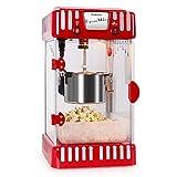 Klarstein Volcano máquina de palomitas (diseño retro años 50, 300 W, agitador extraíble, ventana panorámica, iluminación interna, cerradura magnética, olla acero inoxidable) - rojo