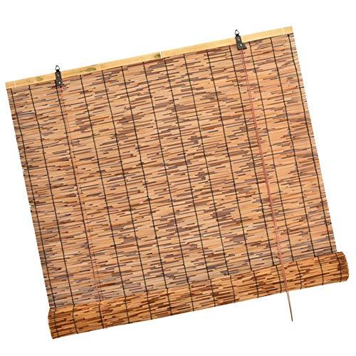 WXZX Tende A Rullo Oscurante, Marrone Tende da Esterno Reed, 70x155cm Tipo di Sollevamento Tenda A Pacchetto in bambù per Interni, per La Decorazione di Cortile, Soffitto, Parete, Giardino