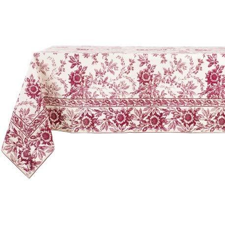 Blanc Mariclo - Tovaglia Felicity Flowers, 160 x 220 cm, colore: Rosso