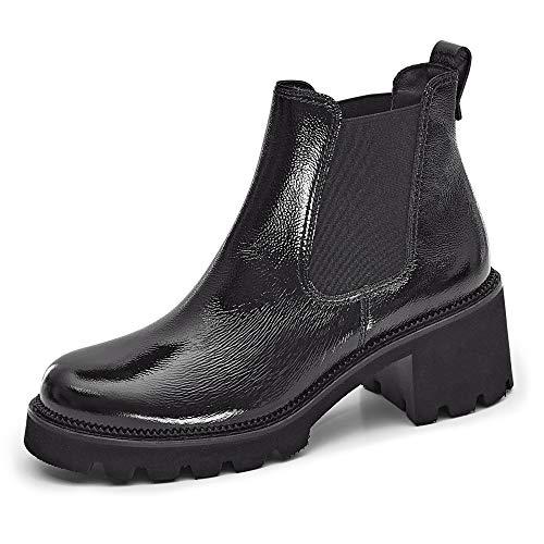 Paul Green Damen Chelsea Boots Lackleder schwarz Gr. 42
