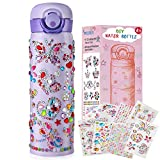 HULASO Gifts for Girls Decorate Your Own Water Bottles with Tons of Rhinestone Glitter Gem Stickers Girls DIY Arts and Crafts, BPA Free Stainless Steel Vacuum Insulated Mug (17 OZ)