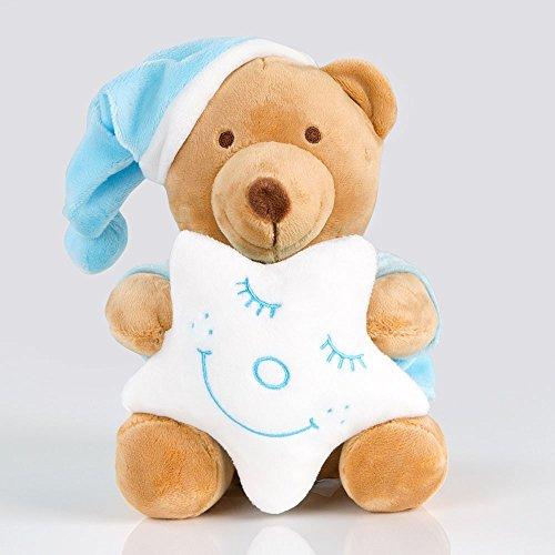 Kuschelige Spieluhr/ Musikuhr/ Einschlafhilfe von Sleeping Bear in versch. Farben, Farbe:Blau