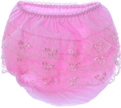 La Bortini La Bortini Slips Frilly Kinder Baby Unterwäsche Unterhose Höschen Mit Rüschen Rosa (74/80)