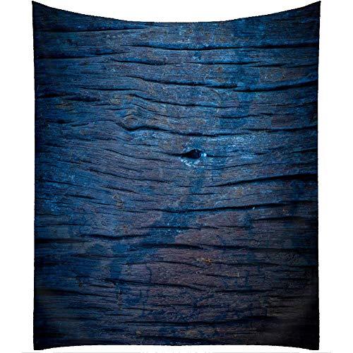 N\A Mantel de Madera, Mantel de Estilo Boho Retro de Madera de Rejilla Azul Real, Cubierta de Mesa Rectangular de Cocina de Comedor. Azul